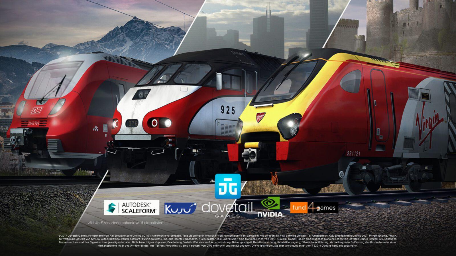RailWorks - Startbildschirm